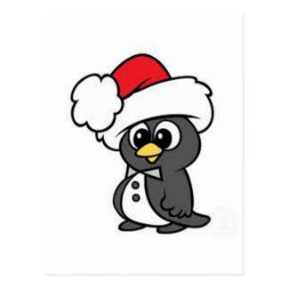 Cartão Postal Pinguim do Natal