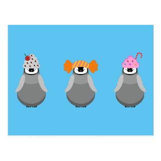 Cartão Postal Pinguins doces