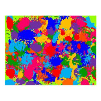 Cartão Postal Pinte o Splatter
