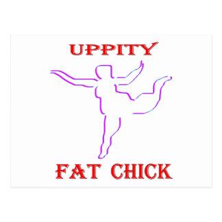 Cartão Postal Pintinho gordo Uppity