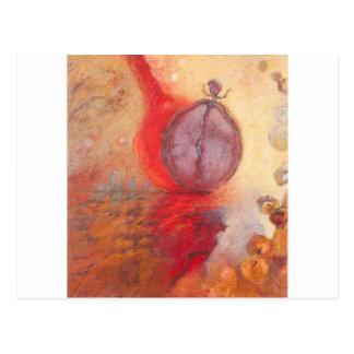 Cartão Postal Pintura a óleo do abstrato da dança do fogo