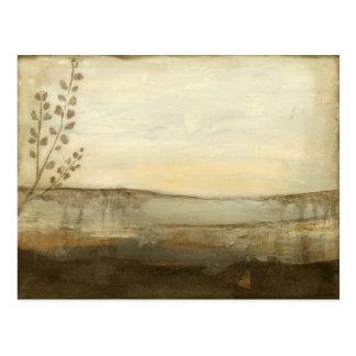Cartão Postal Pintura a óleo moderna da paisagem do por do sol