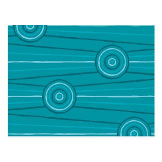 Cartão Postal Pintura aborígene da linha e do círculo