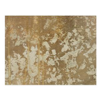 Cartão Postal Pintura abstrata do ouro com salpicos de prata