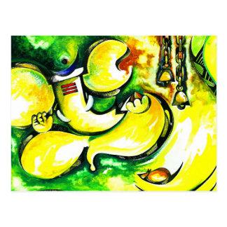 Cartão Postal Pintura abstrata Handmade do senhor Ganesha