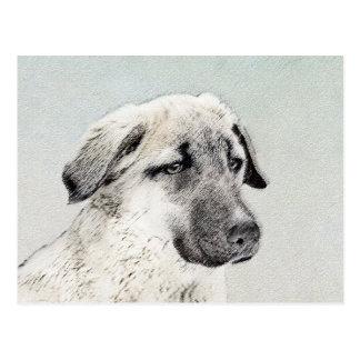 Cartão Postal Pintura anatólia do pastor - arte original do cão