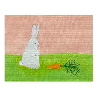 Cartão Postal Pintura colorida da arte moderna fresca da cenoura
