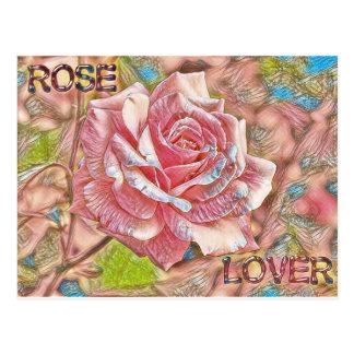 """Cartão Postal """"Pintura cor-de-rosa da flor de Digitas do amante"""