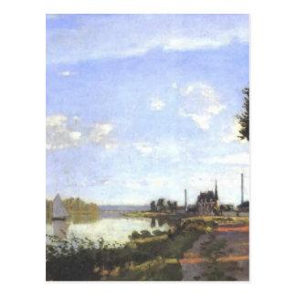 Cartão Postal Pintura de Argenteuil - de Monet