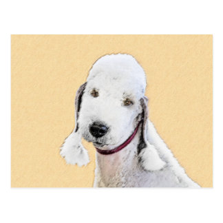 Cartão Postal Pintura de Bedlington Terrier 2 - arte original do