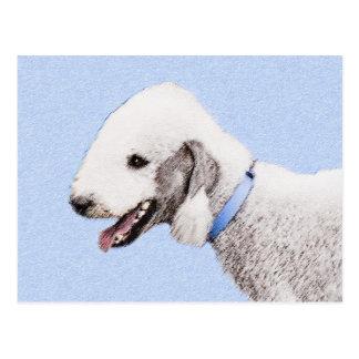 Cartão Postal Pintura de Bedlington Terrier - arte original do