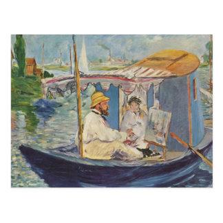 Cartão Postal Pintura de Claude Monet - Edouard Manet