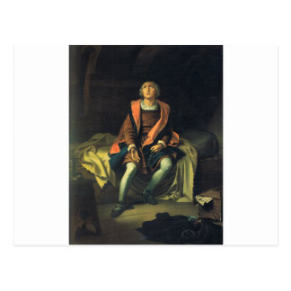Cartão Postal Pintura de Cristóvão Colombo por Antonio de