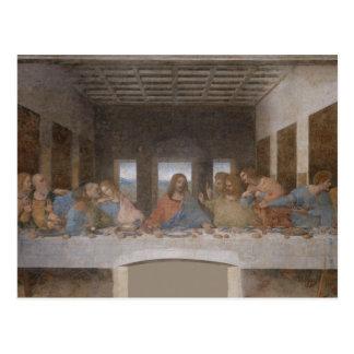 Cartão Postal Pintura de Leonardo da Vinci da última ceia
