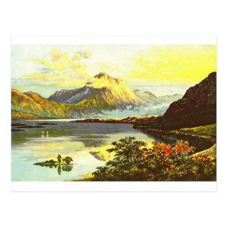 Cartão Postal Pintura de Maree do Loch do vintage