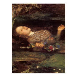 Cartão Postal Pintura de Ophelia das belas artes