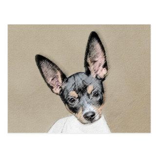 Cartão Postal Pintura de Terrier de rato - arte original bonito