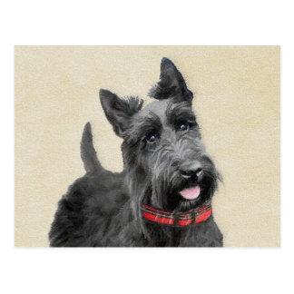 Cartão Postal Pintura de Terrier do Scottish - arte original