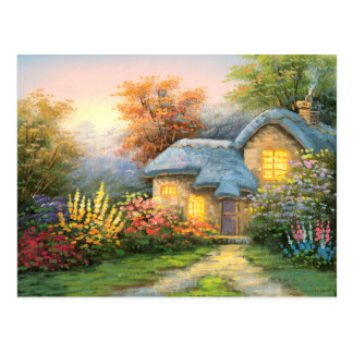 Cartão Postal Pintura de uma casa de campo privada