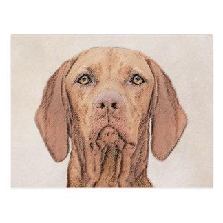 Cartão Postal Pintura de Vizsla - arte original bonito do cão