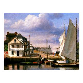 Cartão Postal Pintura do beira-rio de St Augustine