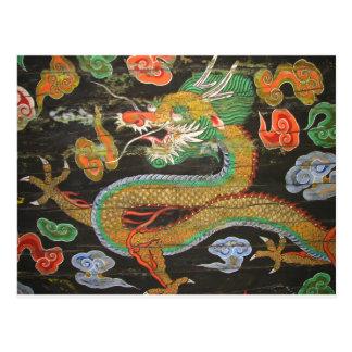 Cartão Postal Pintura do dragão no teto coreano de Sungnyemu