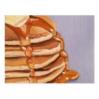 Cartão Postal Pintura do pequeno almoço de Shortstack das