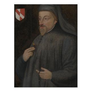 Cartão Postal Pintura do retrato de Geoffrey Chaucer do vintage
