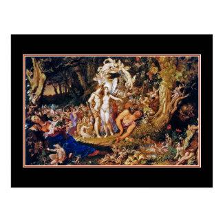 """Cartão Postal Pintura feericamente """"Oberon e Titania """""""