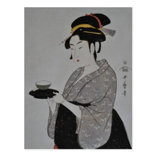 Cartão Postal Pintura japonesa antiga cerca de 1793
