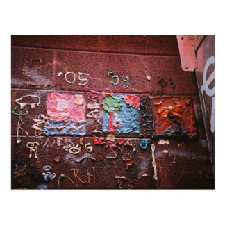 Cartão Postal Pintura mural da goma