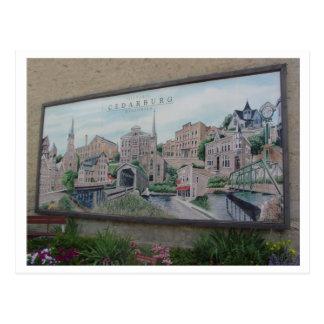 Cartão Postal Pintura mural de Cedarburg