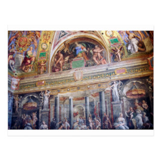 Cartão Postal Pintura mural no museu do vaticano