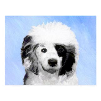 Cartão Postal Pintura portuguesa do cão de água - arte original