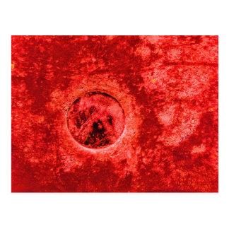 Cartão Postal Pintura vermelha abstrata de Digitas na fotografia