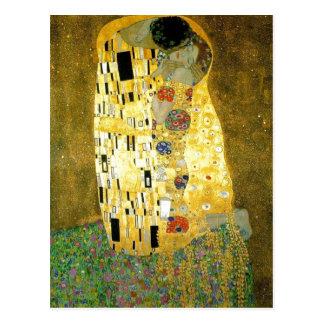 Cartão Postal Pintura www.ya de Gustavo Klimt da descrição