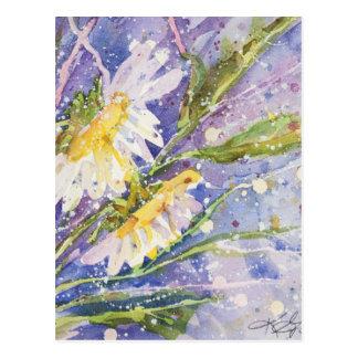 Cartão Postal Pinturas da aguarela