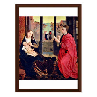 Cartão Postal Pinturas de St Mary Lucas por Weyden Rogier Van