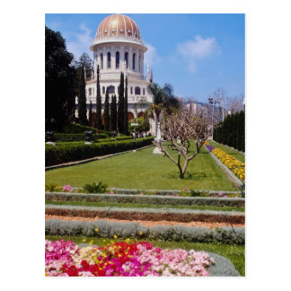 Cartão Postal Pique o centro da fé de Bahai, Haifa do mundo, I