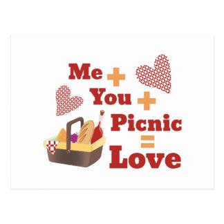 Cartão Postal Piquenique do amor