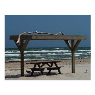 Cartão Postal Piquenique na praia