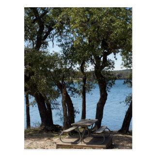 Cartão Postal Piquenique no lago