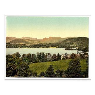 Cartão Postal Piques de Windermere e de Langdale, distrito do