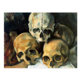 Cartão Postal Pirâmide dos crânios Paul Cezanne