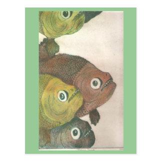 Cartão Postal piranhas do mas