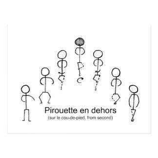 Cartão Postal Pirouette (ò)