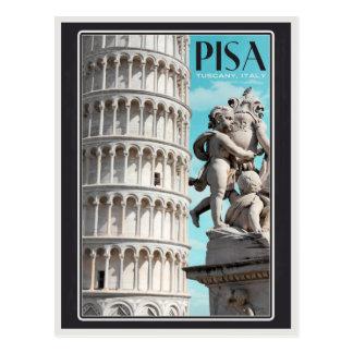 Cartão Postal Pisa - a torre inclinada