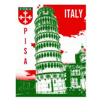 Cartão Postal Pisa, Italia - a torre inclinada
