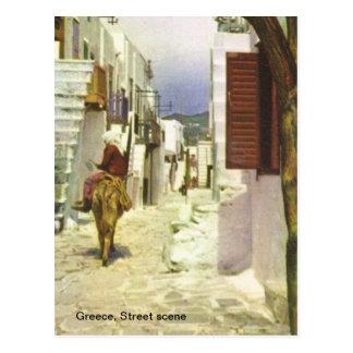 Cartão Postal Piscina, cena da rua