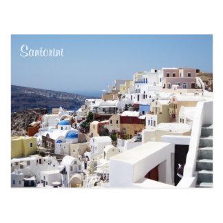 Cartão Postal Piscina da ilha de Santorini